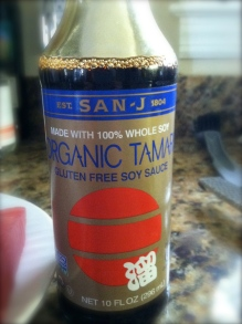 I like to use organic soy sauce, gluten free, it really does taste better.