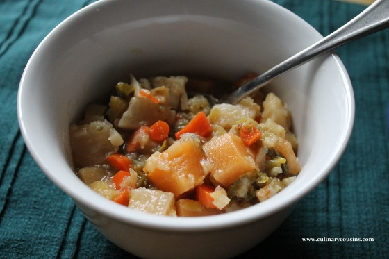 Winter Root Soup at www.culinarycousins.com